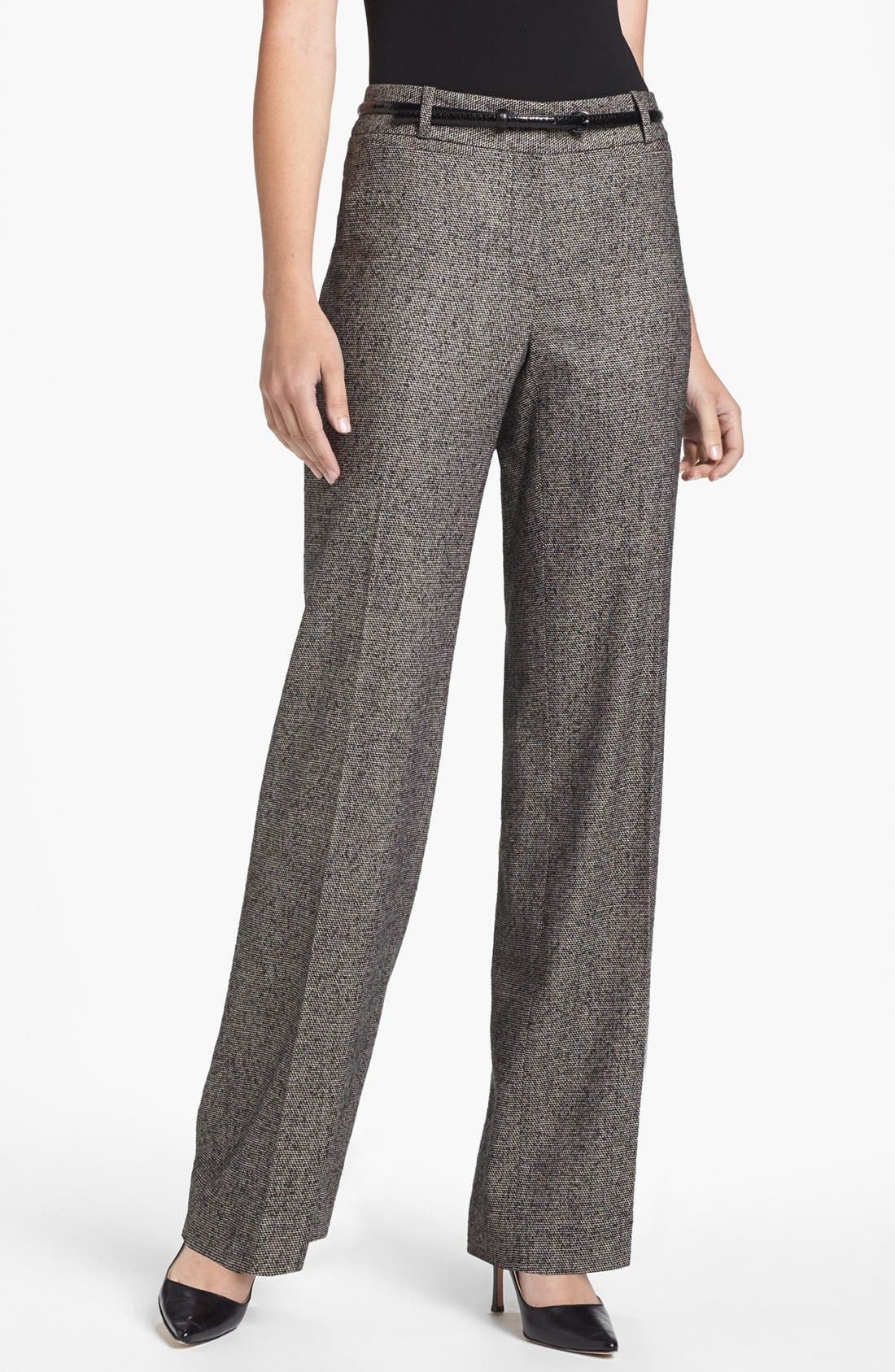 Alternate Image 1 Selected - Classiques Entier® 'Belle Weave' Belted Trousers