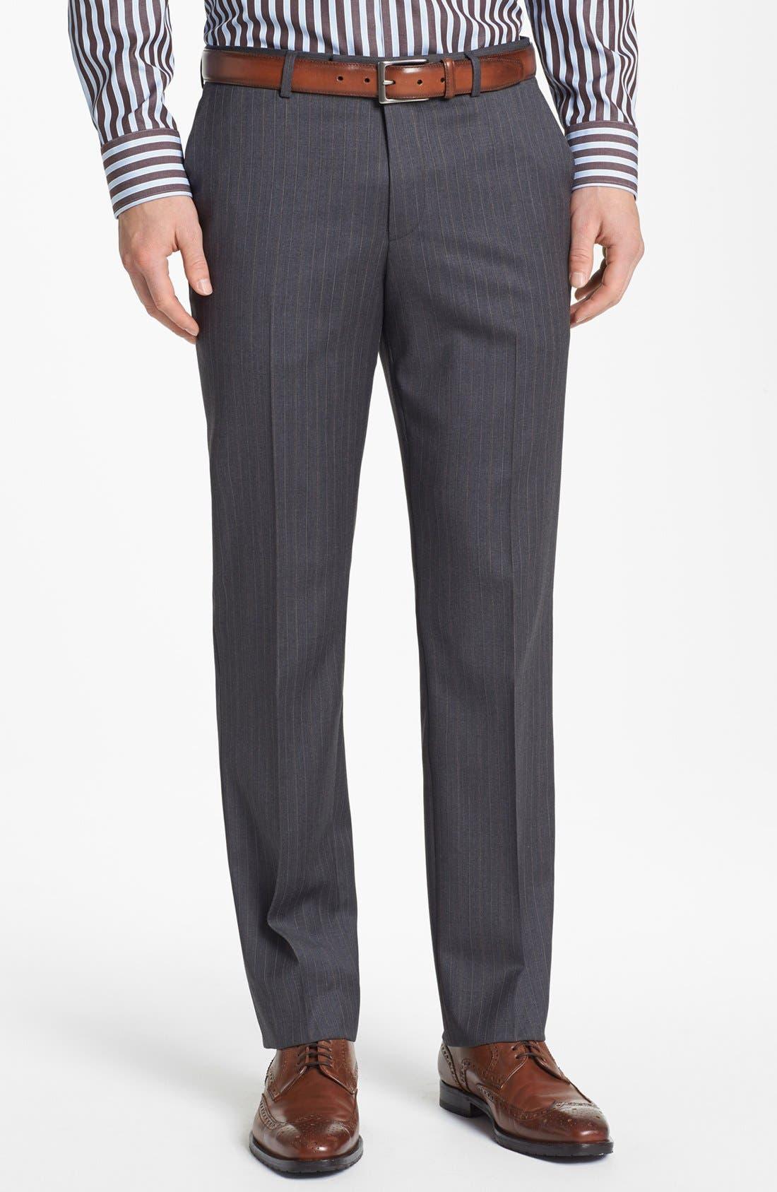 Alternate Image 5  - BOSS HUGO BOSS 'James/Sharp' Trim Fit Stripe Suit