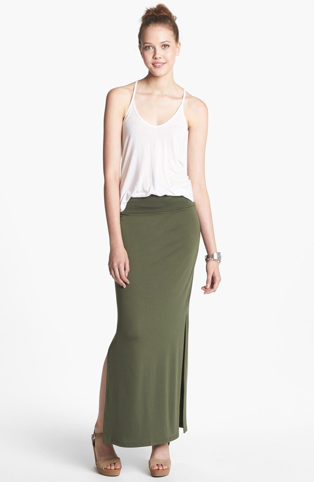 Main Image - Lily White Maxi Skirt (Juniors)
