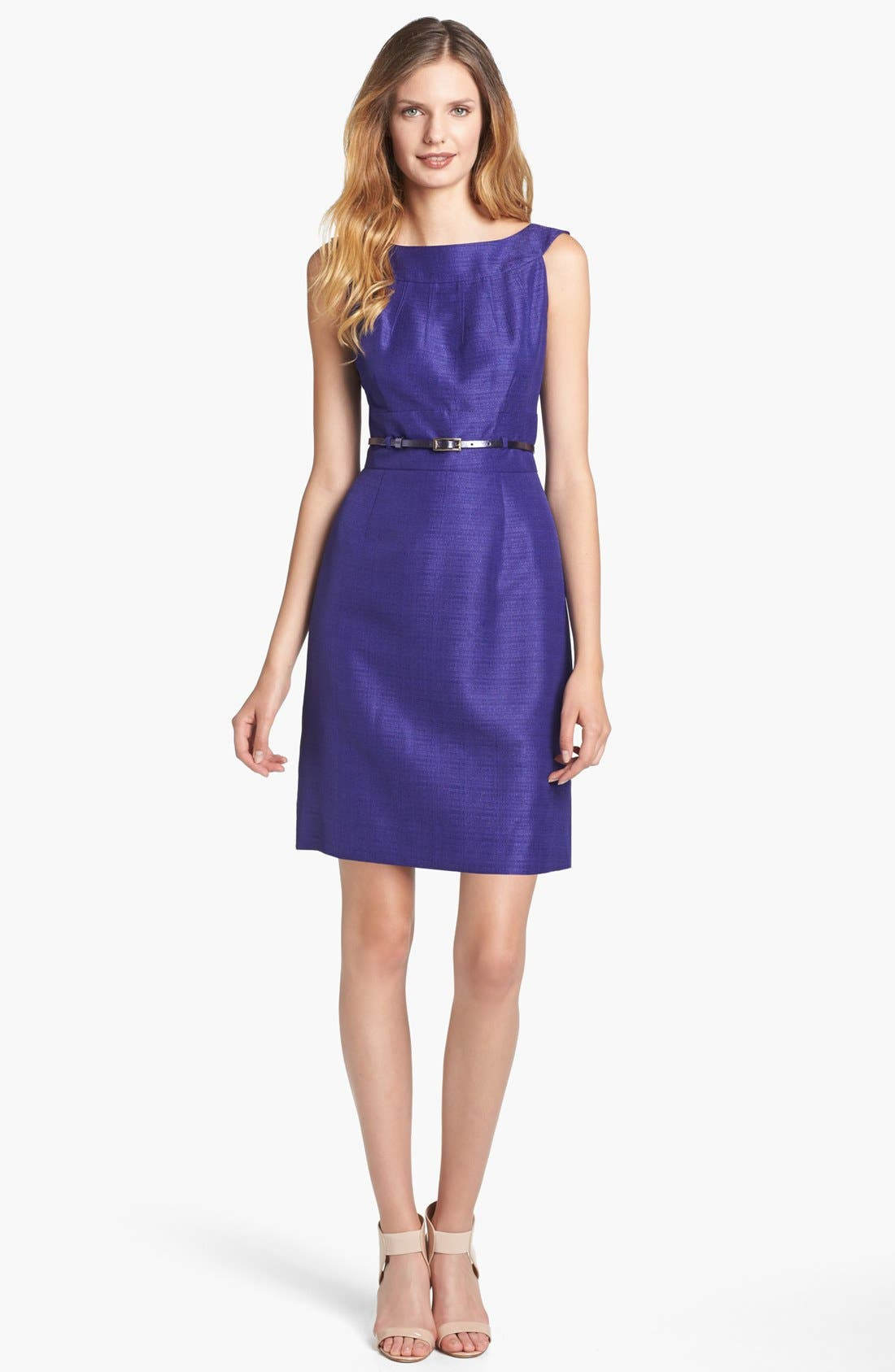 Alternate Image 1 Selected - Tahari Metallic Jacquard Sheath Dress