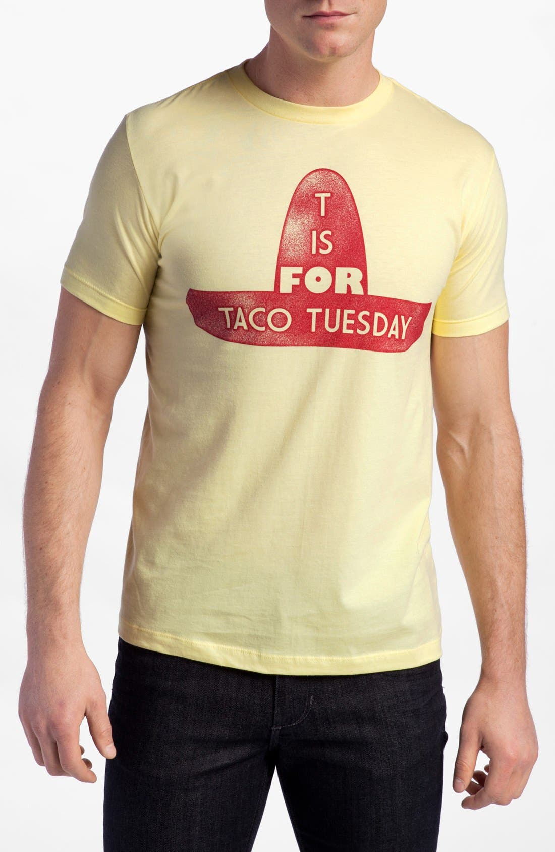 Main Image - Topless 'T Is for Taco Tuesday' Graphic T-Shirt (Online Only)