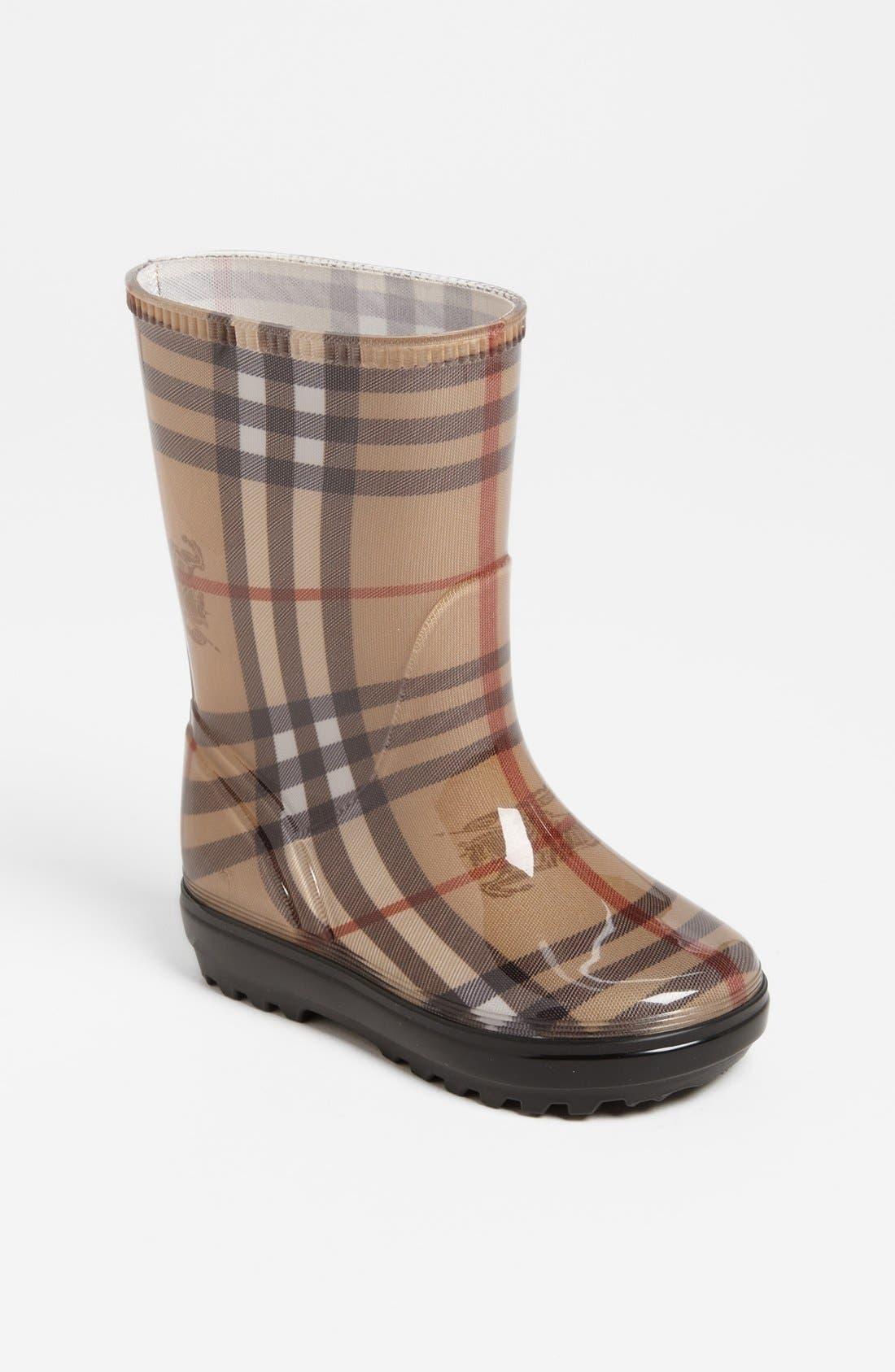 Alternate Image 1 Selected - Burberry 'Niles' Rain Boot (Walker, Toddler, Little Kid & Big Kid)