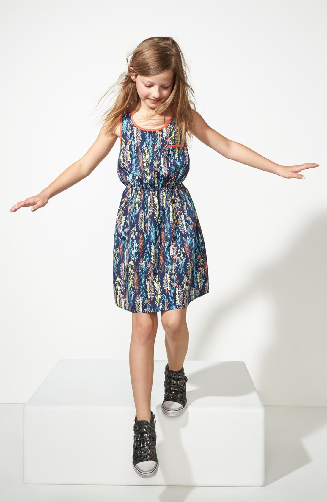 Main Image - Soprano Woven Sleeveless Dress (Big Girls)