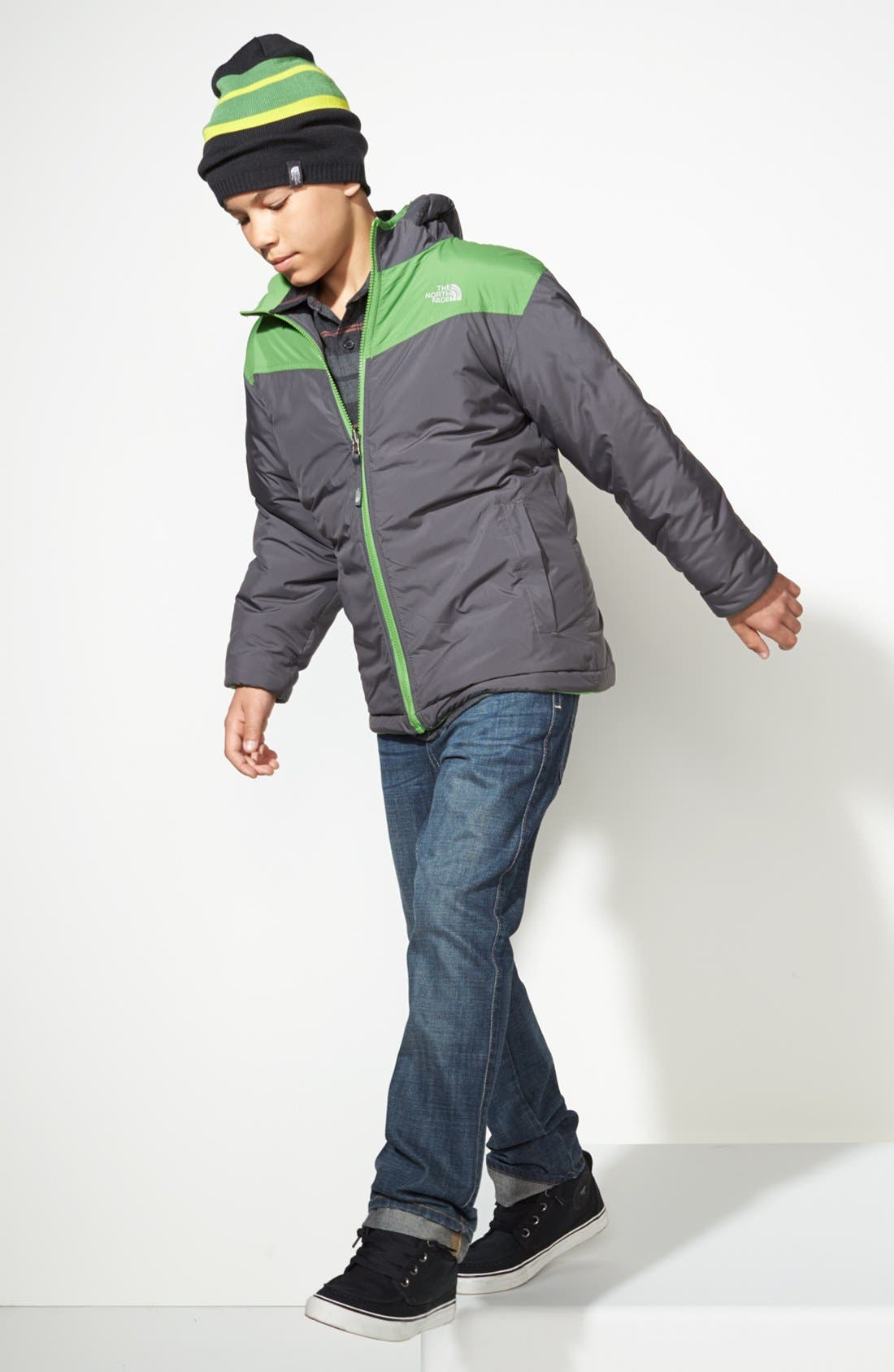 Main Image - The North Face Jacket, Quiksilver Sport Shirt & Tucker + Tate Jeans (Big Boys)