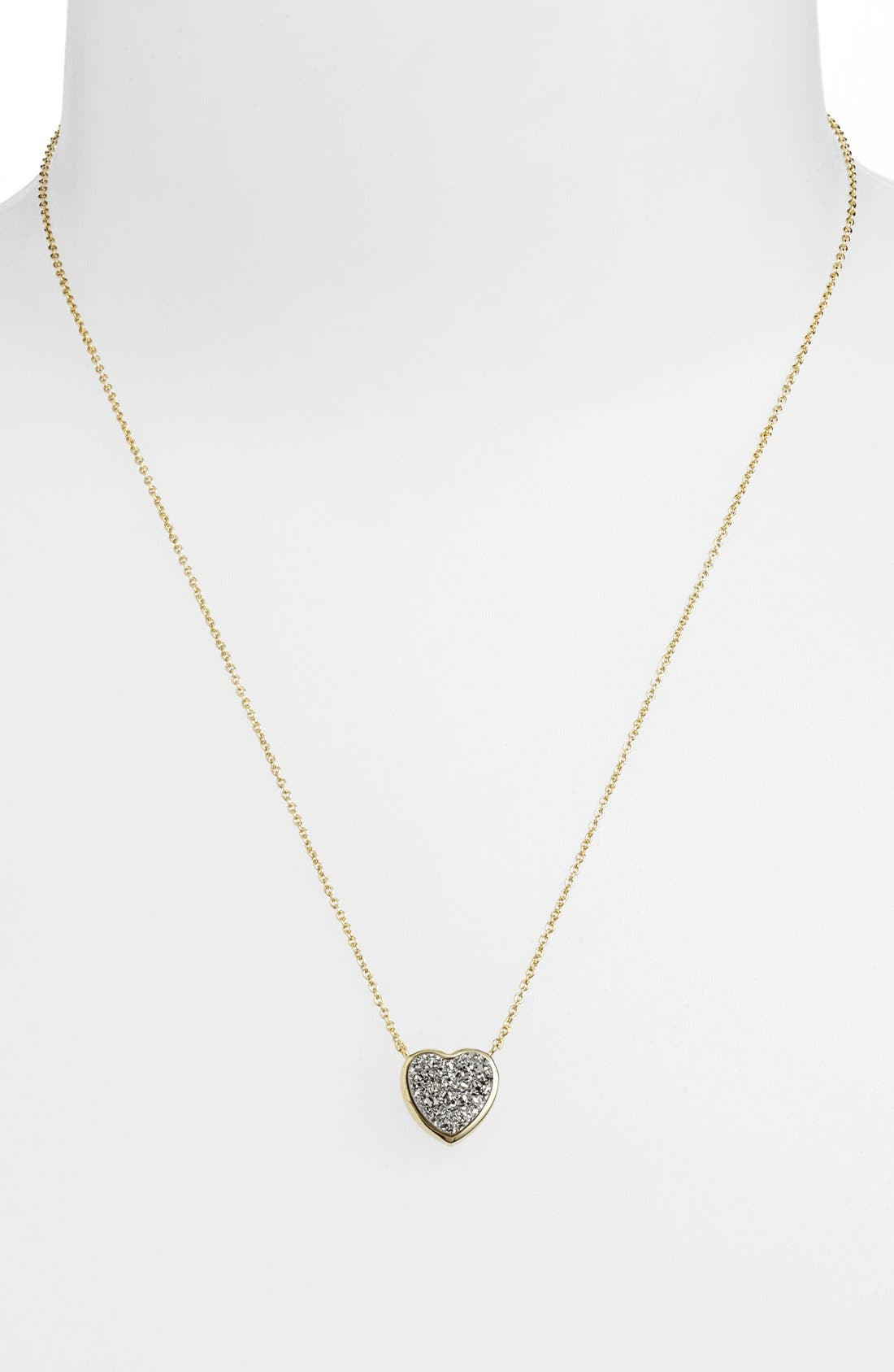Alternate Image 1 Selected - Marcia Moran Heart Drusy Pendant Necklace (Online Only)