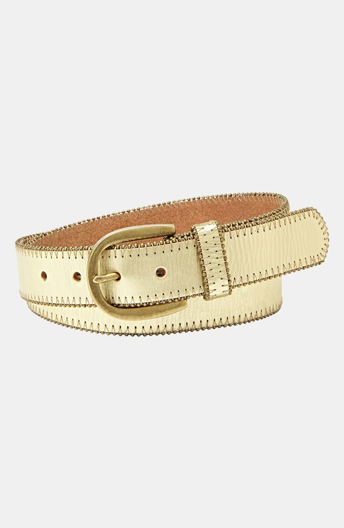 Alternate Image 1 Selected - Fossil Beaded Leather Belt