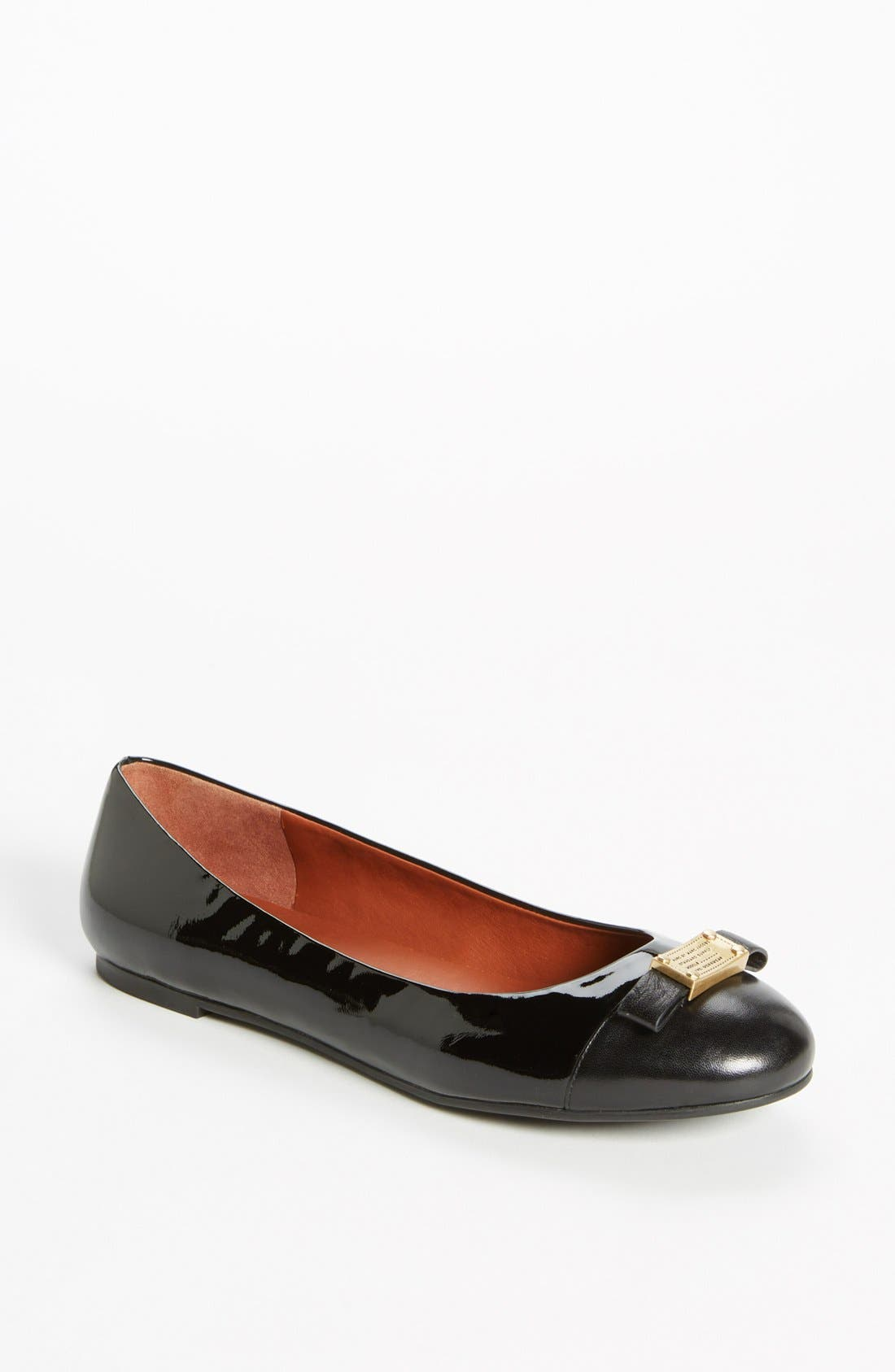 Main Image - MARC BY MARC JACOBS 'Tuxedo' Logo Plaque Ballerina Flat
