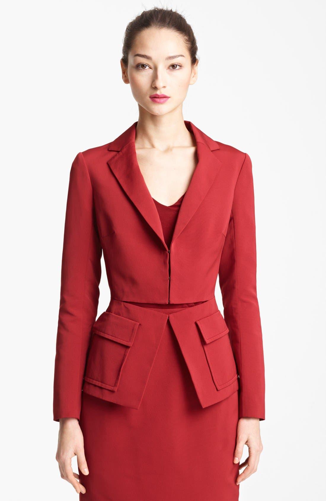 Main Image - Lida Baday Split Front Faille Jacket