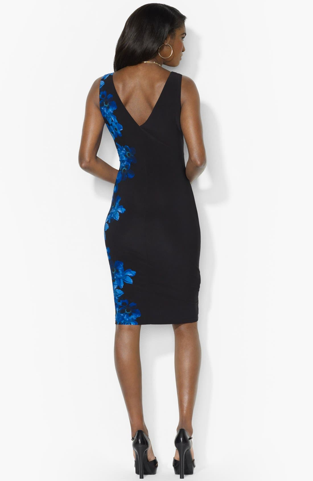 Alternate Image 2  - Lauren Ralph Lauren Print Jersey Sheath Dress