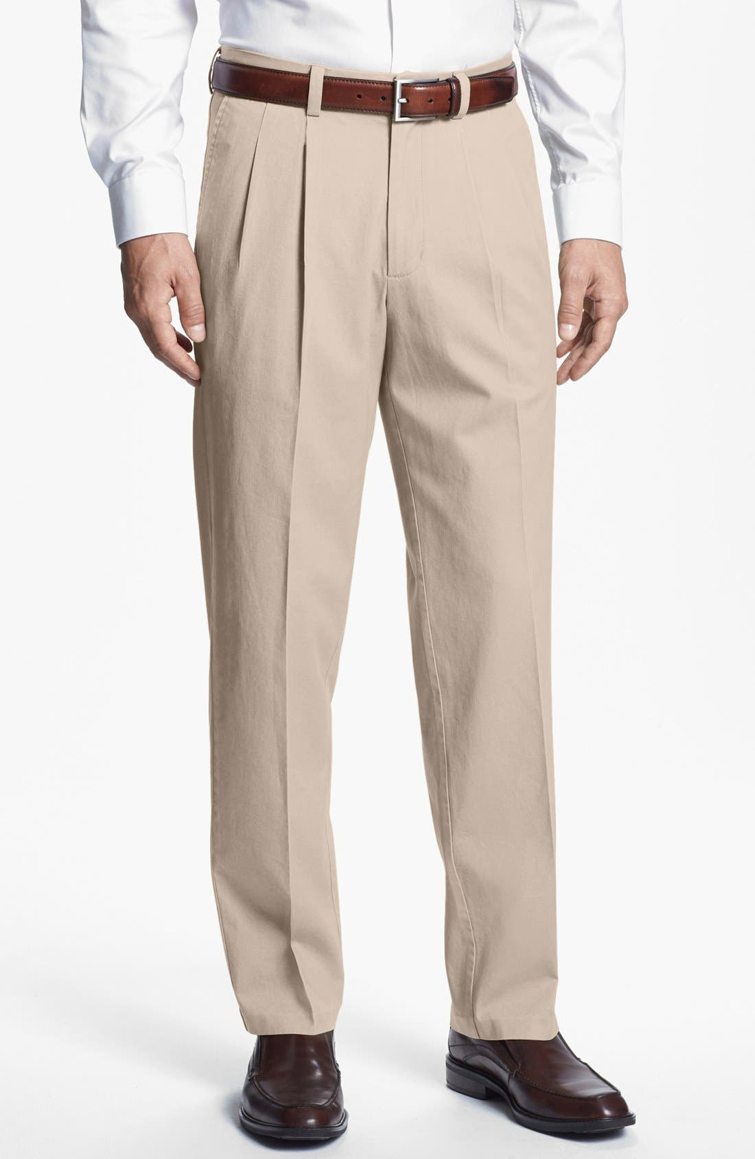 Alternate Image 1 Selected - Nordstrom Smartcare™ Double Pleat Pants