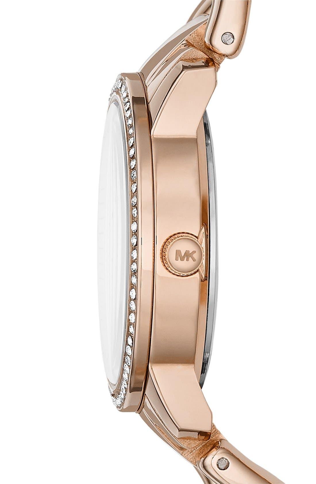 Alternate Image 3  - Michael Kors 'Lady Nini' Chain Link Bracelet Watch, 35mm