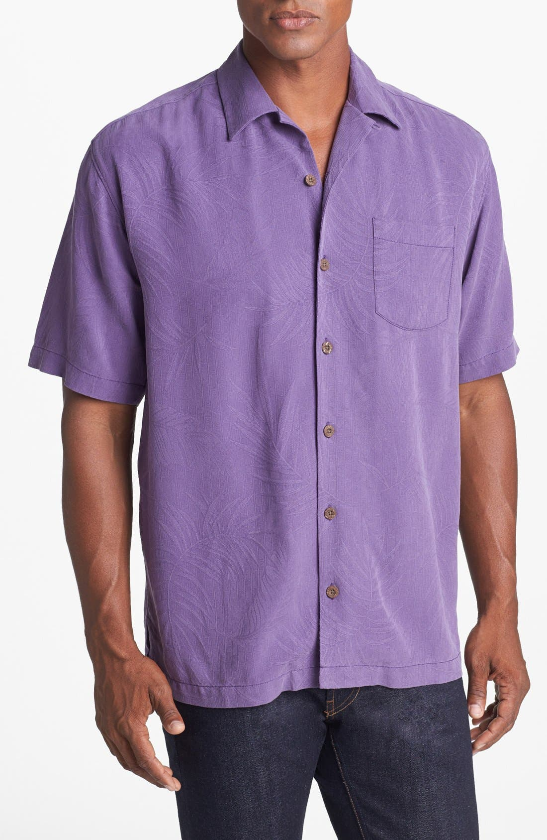 Alternate Image 1 Selected - Tommy Bahama 'Tiki Palms' Original Fit Sport Shirt