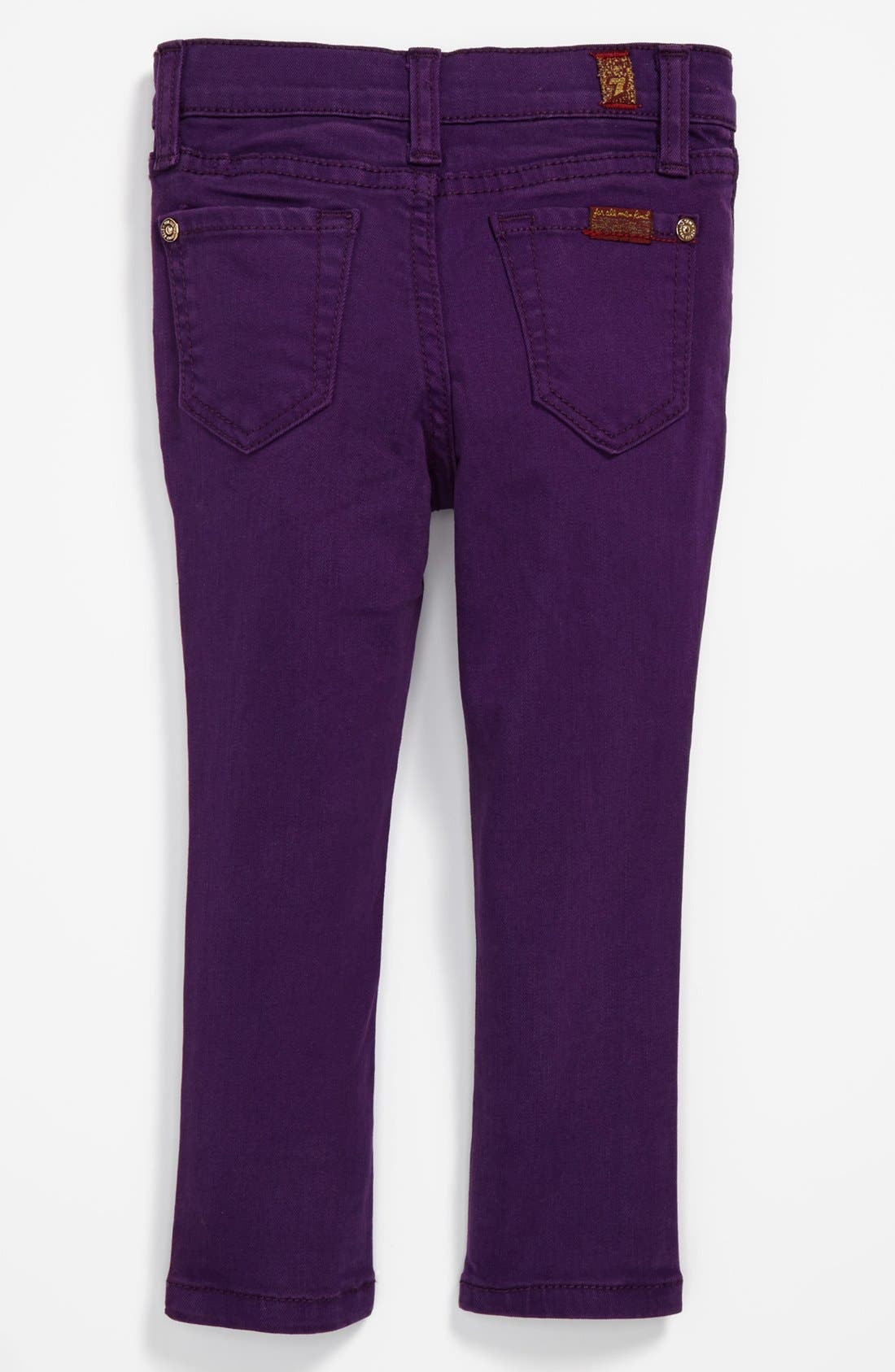 Main Image - 7 For All Mankind® 'The Skinny' Jeans (Toddler Girls)