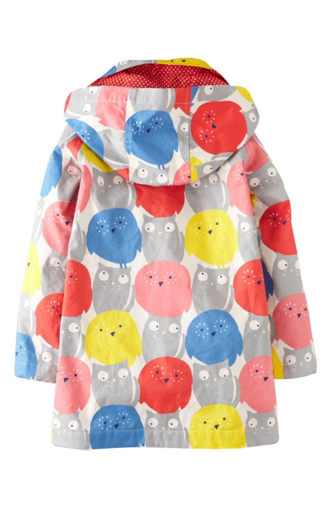 Alternate Image 2  - Mini Boden 'Rainy Day' Raincoat (Toddler Girls, Little Girls & Big Girls)