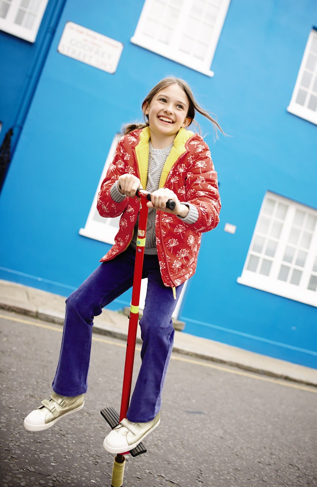 Alternate Image 3  - Mini Boden Print Water Resistant Hooded Anorak (Little Girls & Big Girls)