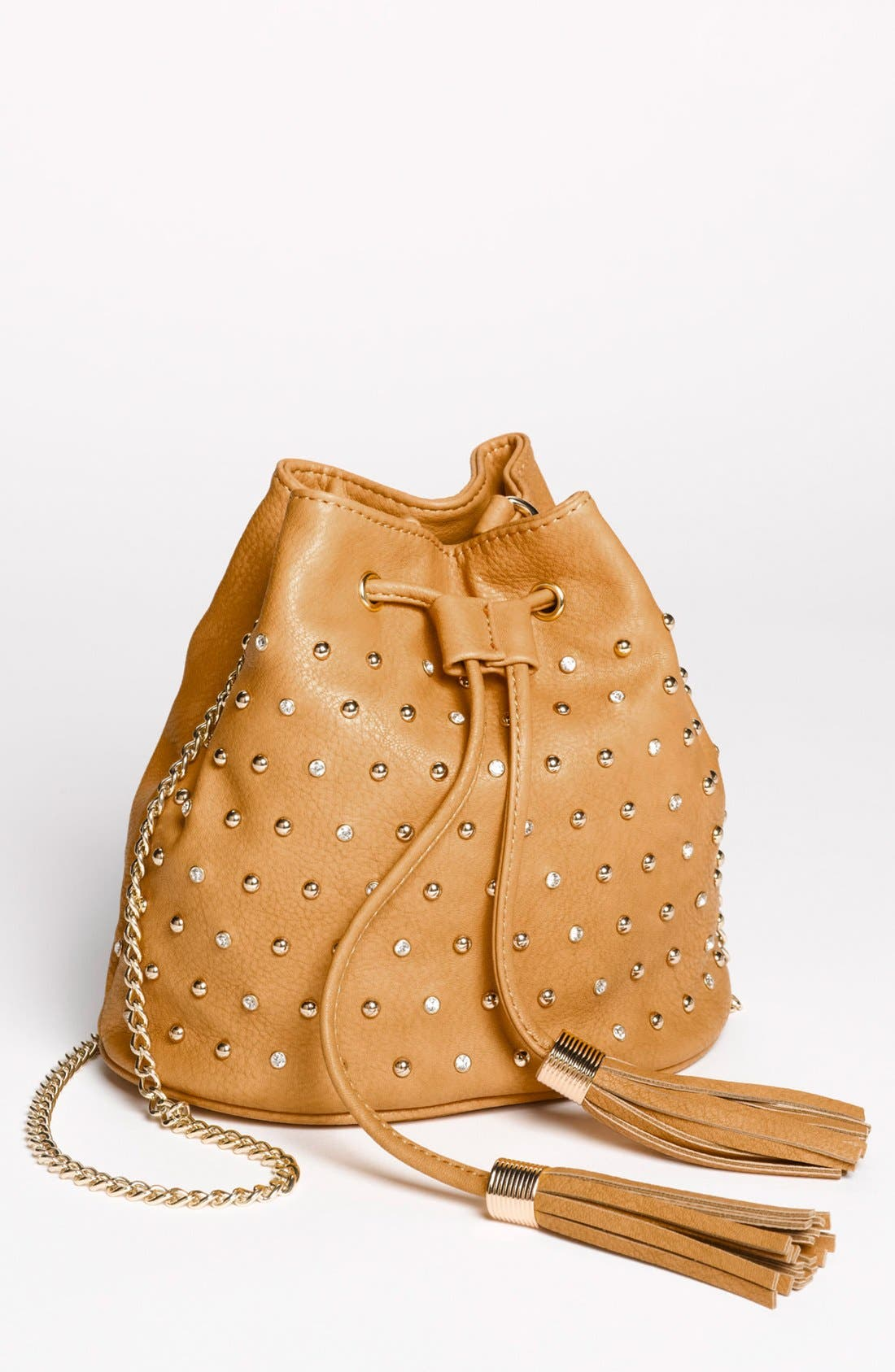 Alternate Image 1 Selected - Emperia Studded Faux Leather Drawstring Bag