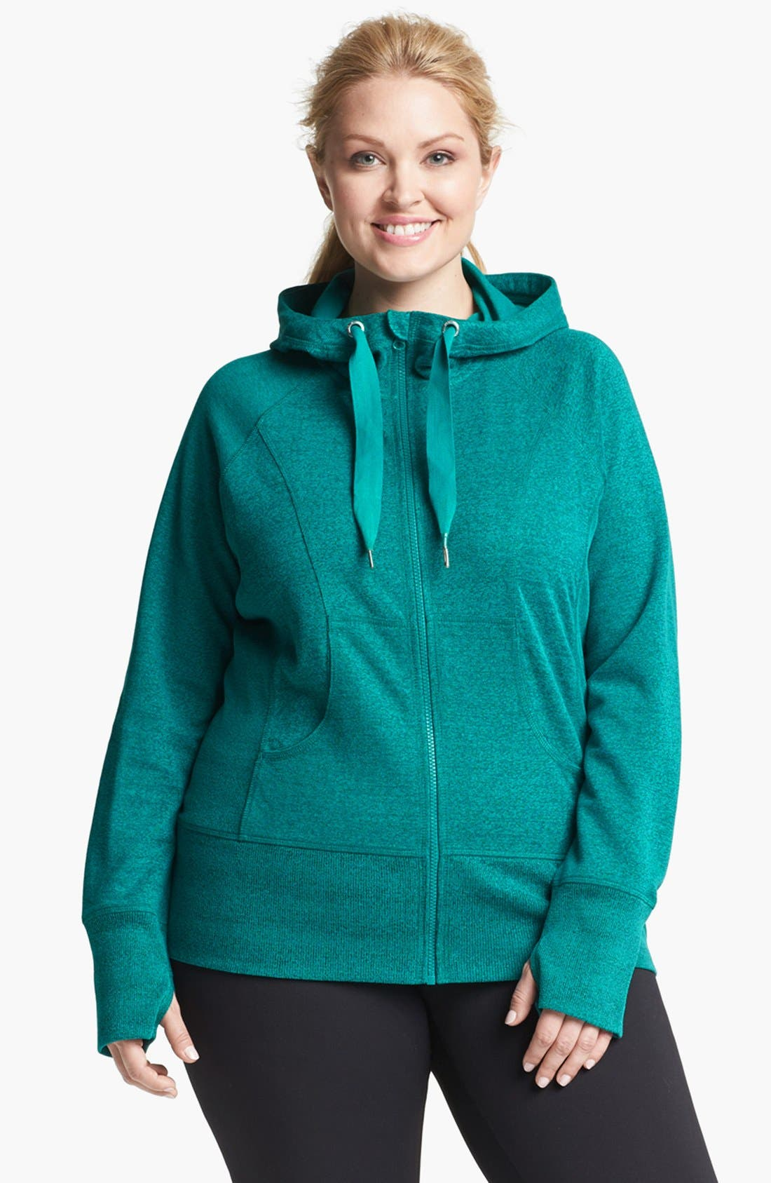 Alternate Image 1 Selected - Zella 'Item' Hoodie (Plus Size)