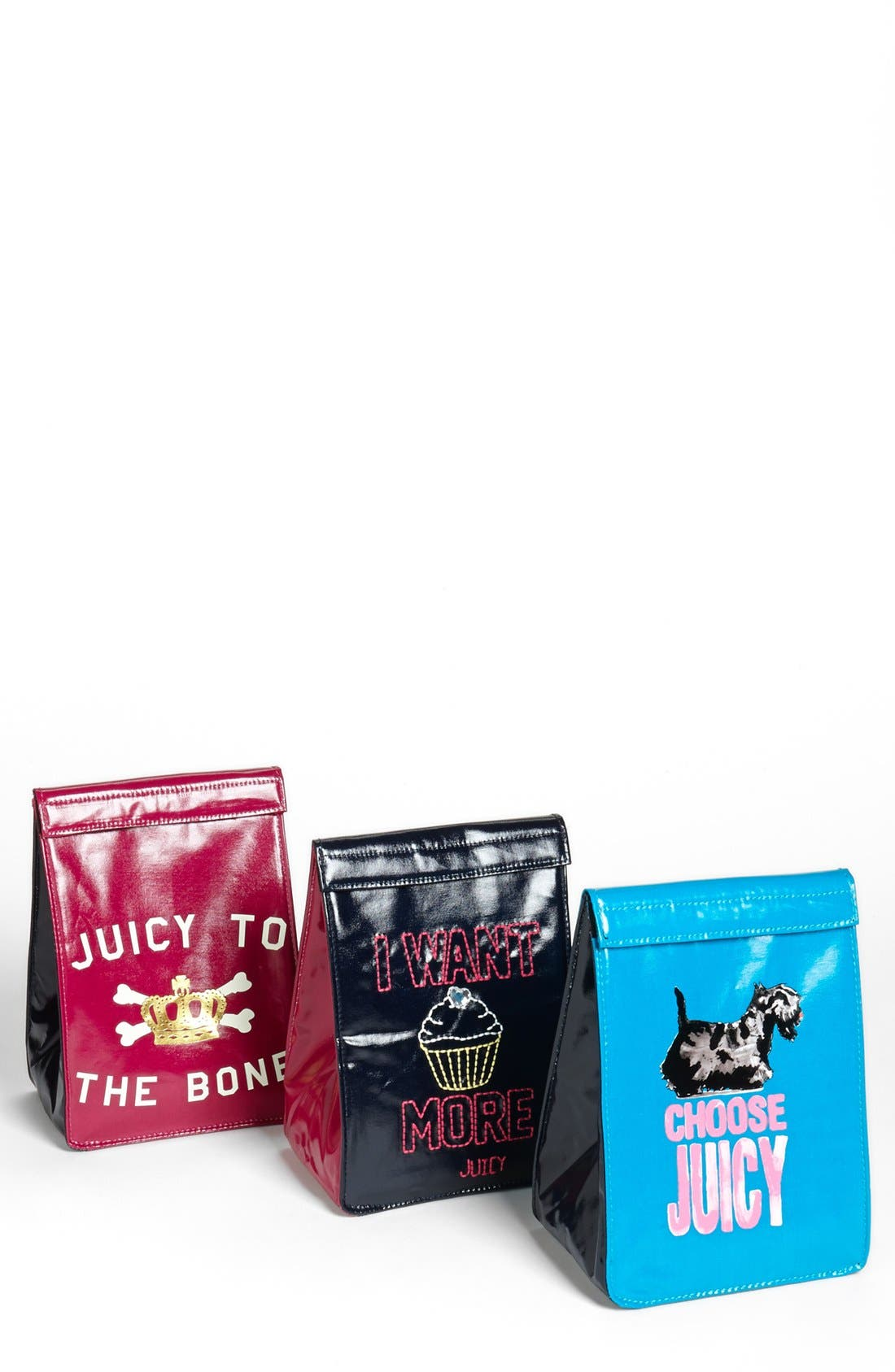 Alternate Image 1 Selected - Juicy Couture Lunch Bags (Set of 3) (Girls)