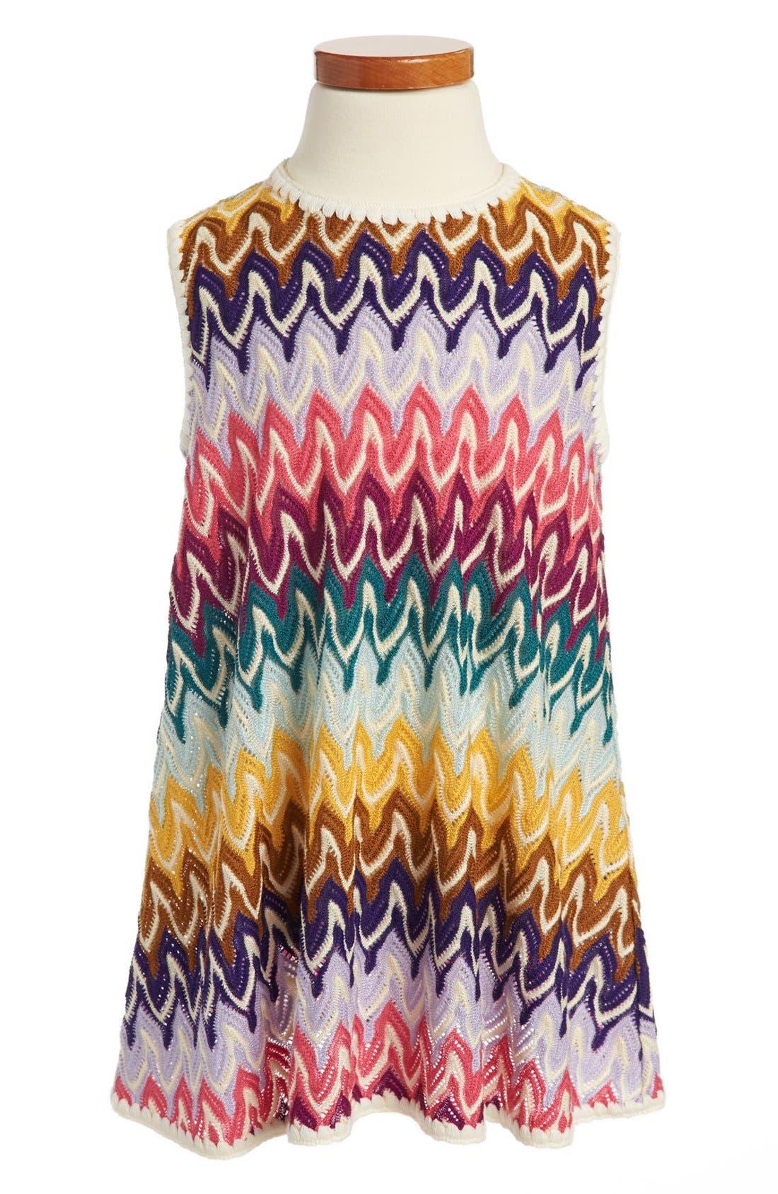 Alternate Image 1 Selected - Missoni Sleeveless Crochet Dress (Toddler Girls, Little Girls & Big Girls)