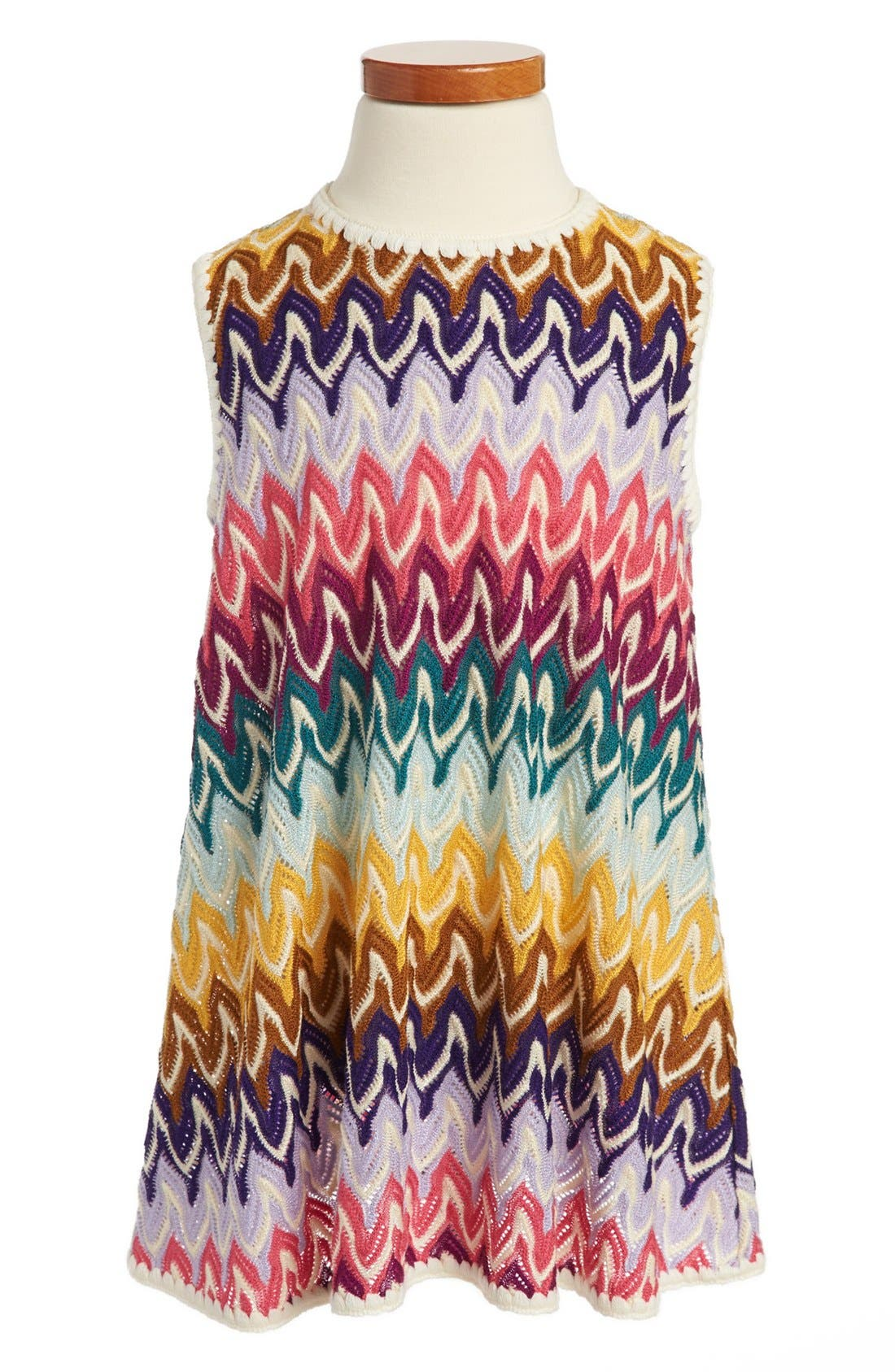 Main Image - Missoni Sleeveless Crochet Dress (Toddler Girls, Little Girls & Big Girls)