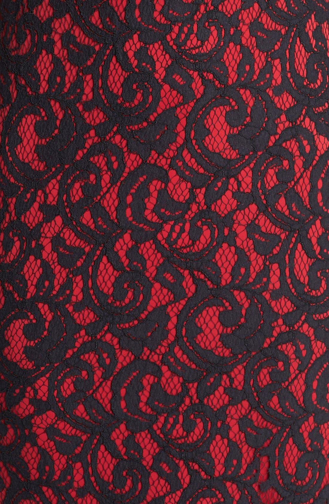 Alternate Image 3  - Tadashi Shoji Illusion Yoke Lace Gown