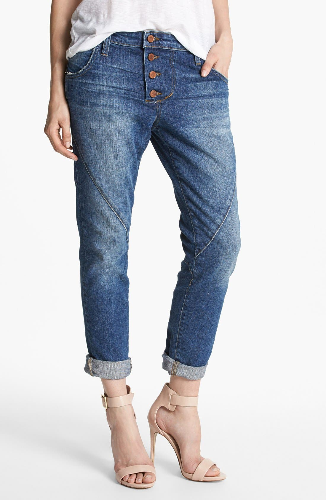 Main Image - Joe's 'Button Up' Slouchy Ankle Jeans (Nyla)