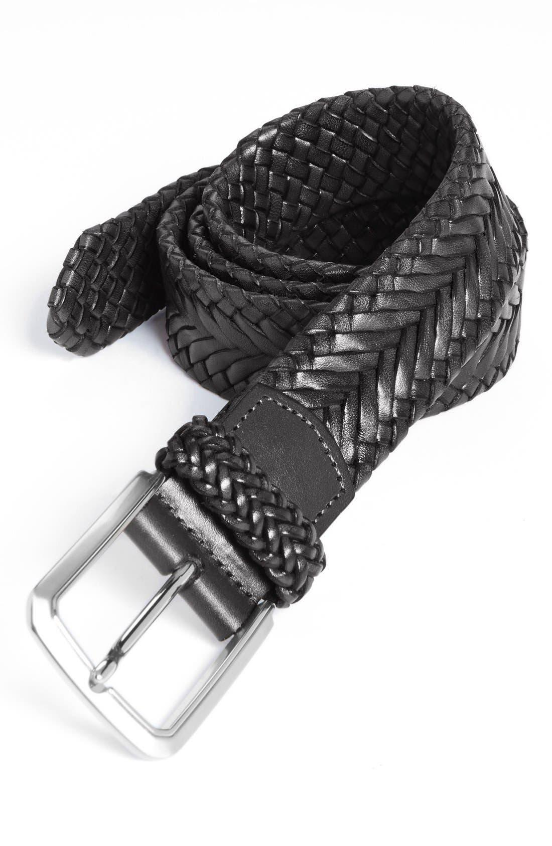 Main Image - Trafalgar 'Brady' Braided Leather Belt