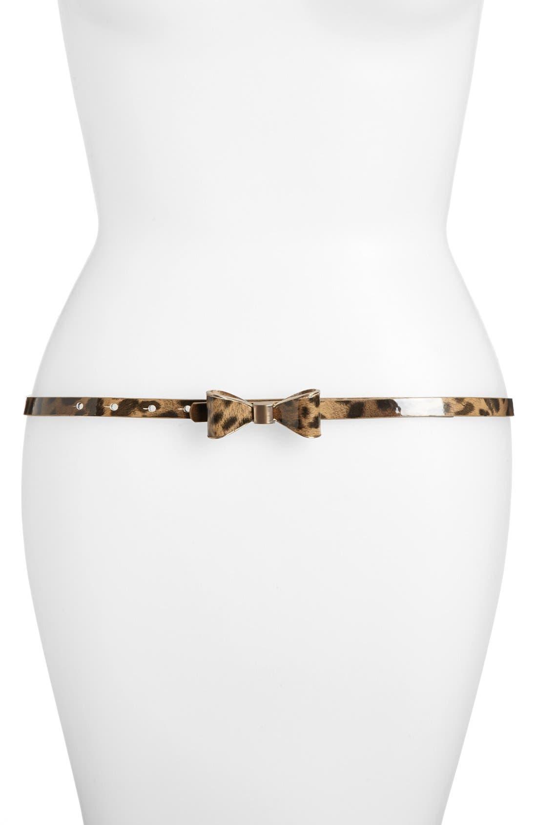 Main Image - Betsey Johnson Enamel Bow Belt