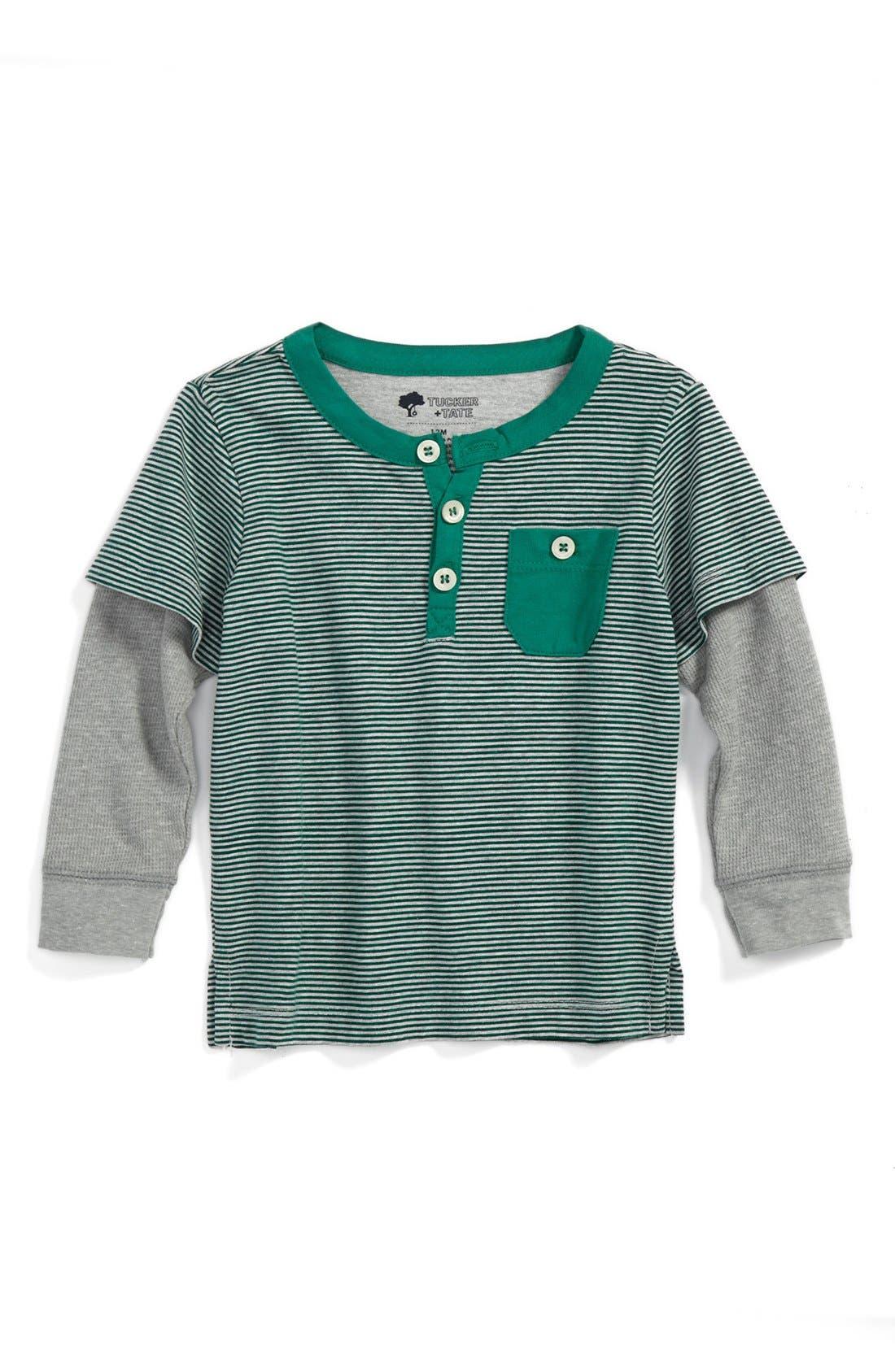 Main Image - Tucker + Tate 'Parker Road'  Layered Sleeve Henley T-Shirt (Toddler Boys)