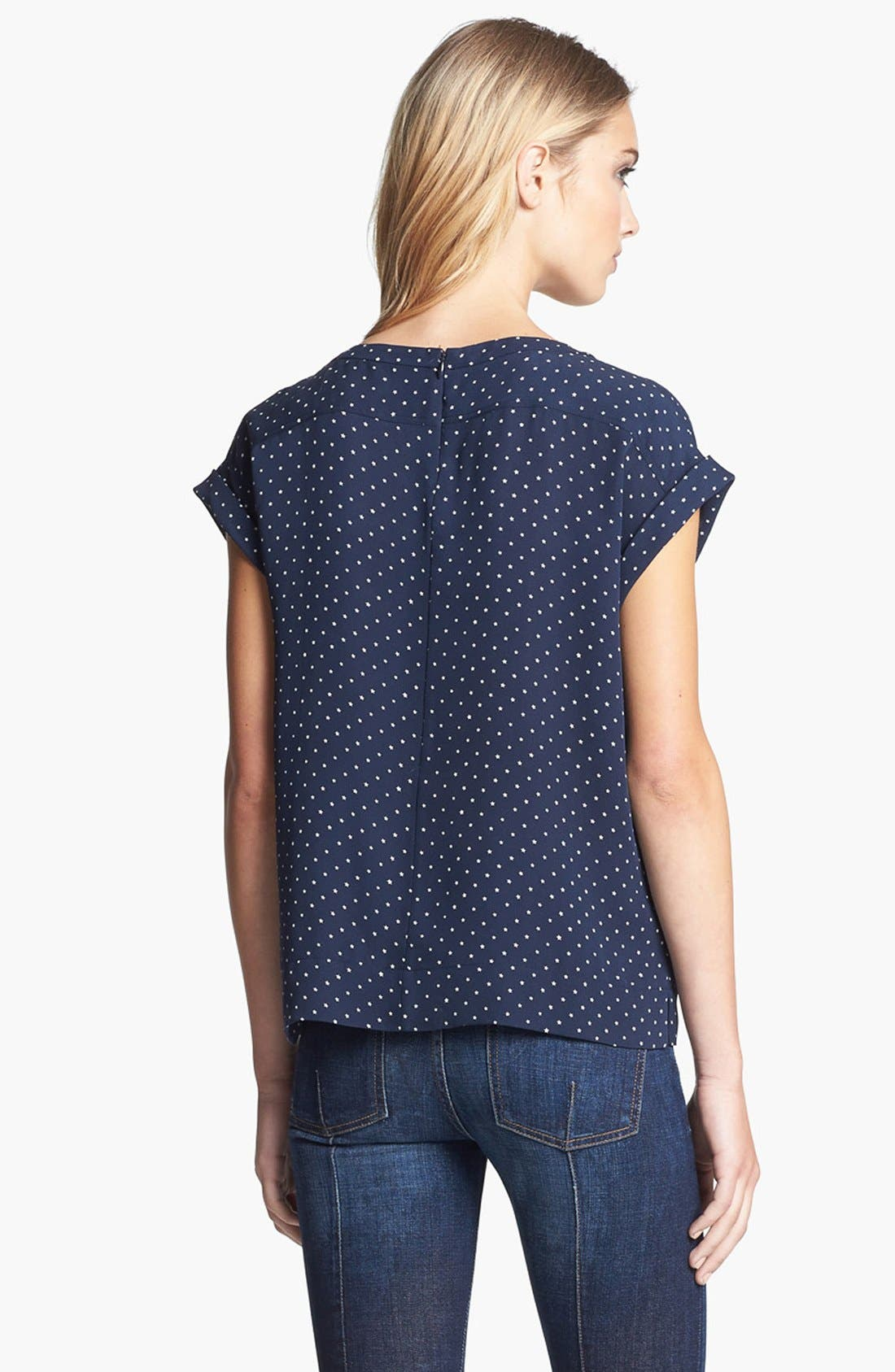 Alternate Image 3  - Theory 'Sorcha' Print Silk Top