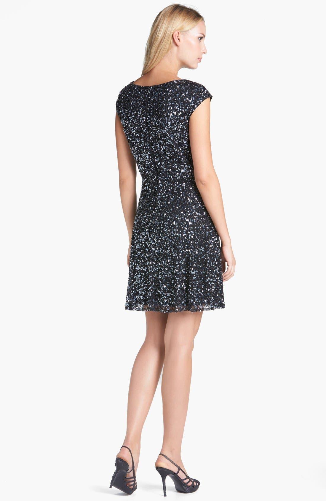 Alternate Image 2  - Pisarro Nights Sequin Fit & Flare Dress