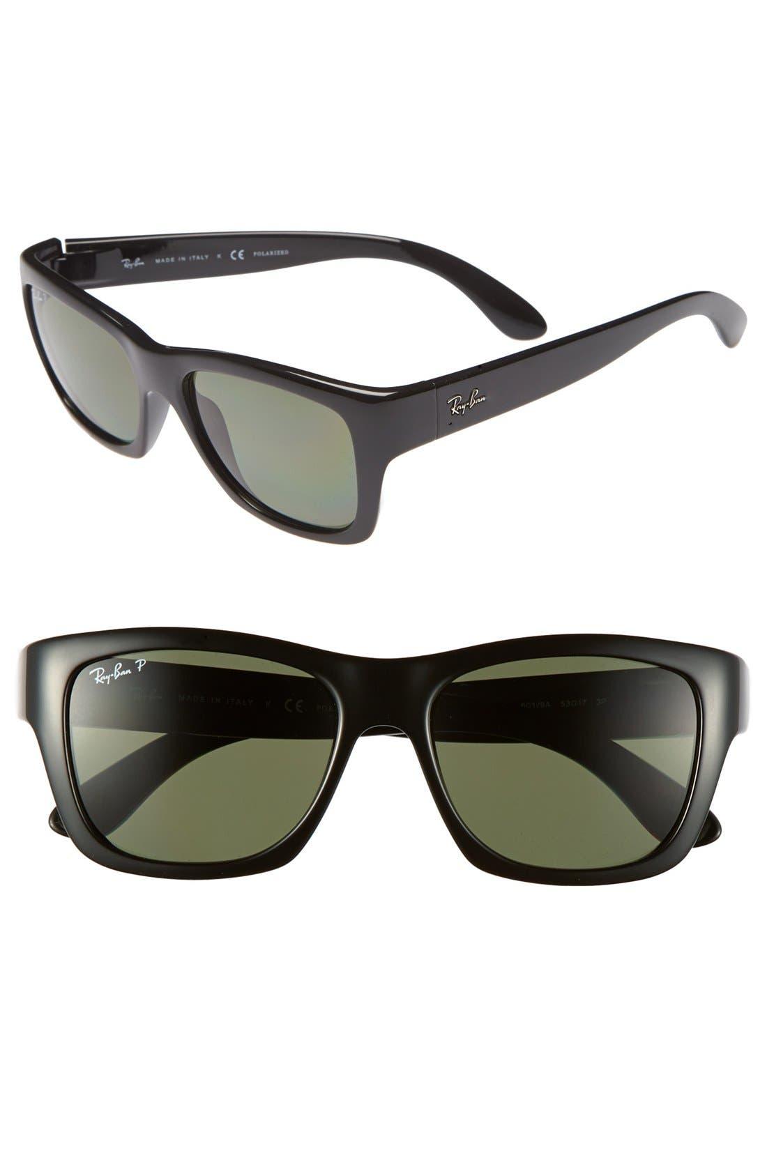 Main Image - Ray-Ban 'Square Glam' 53mm Polarized Sunglasses