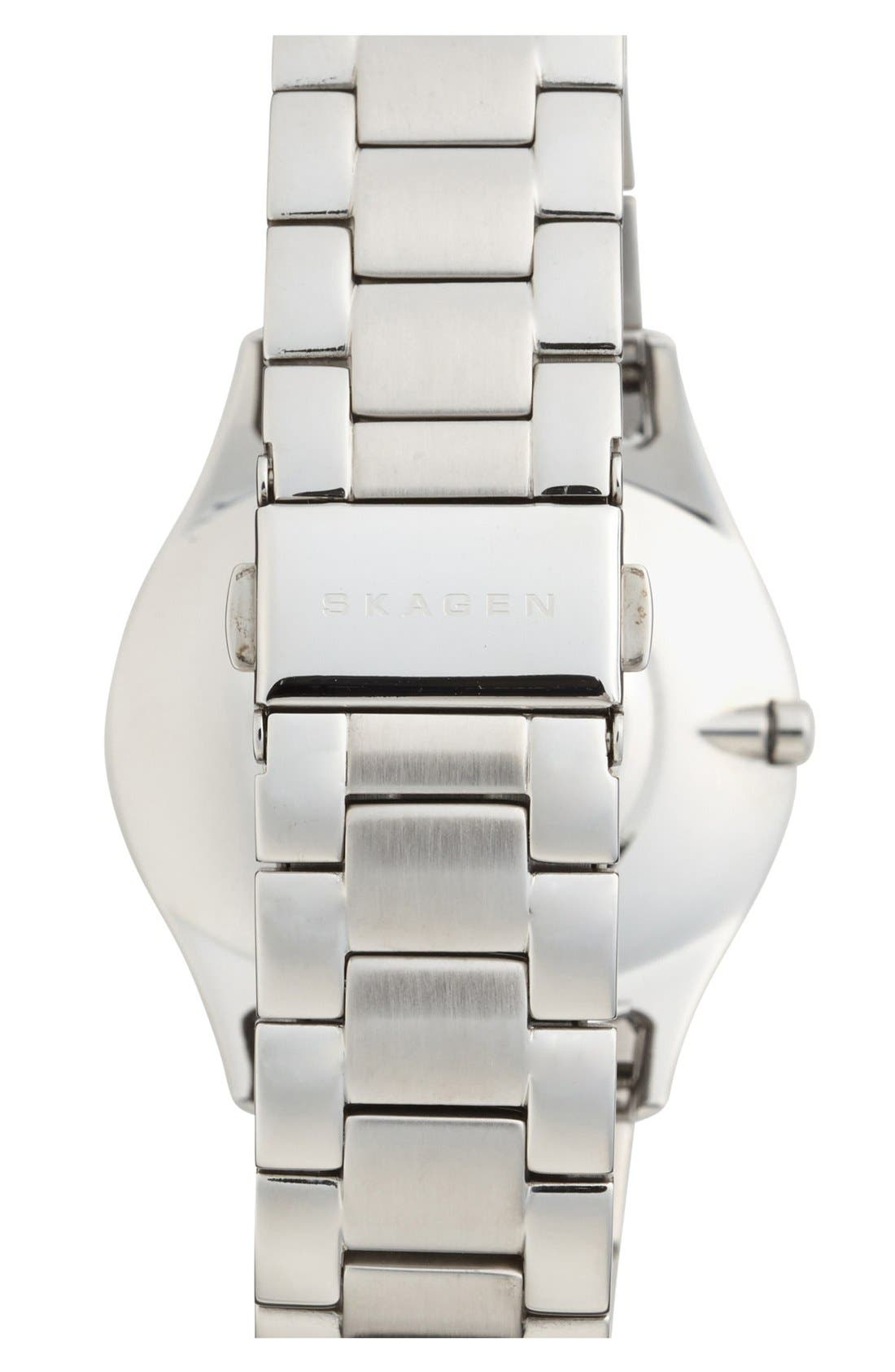 Alternate Image 2  - Skagen Crystal Brushed Bezel Bracelet Watch, 38mm