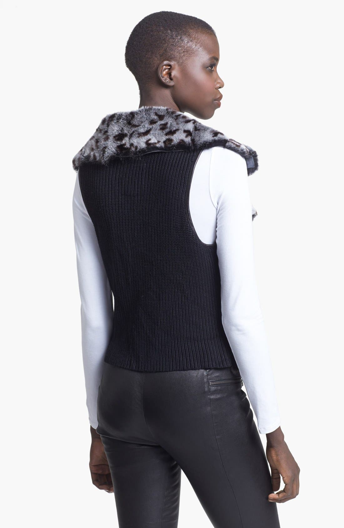 Alternate Image 2  - Tracy Reese Genuine Rabbit Fur Vest