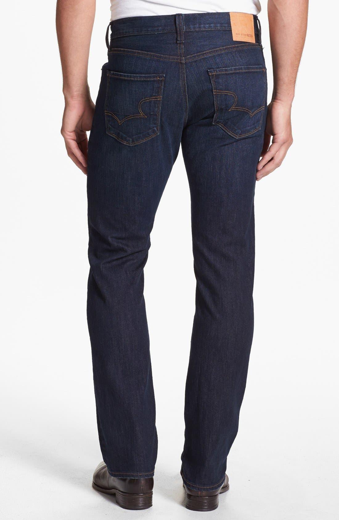Alternate Image 2  - Big Star 'Union' Regular Straight Leg Jeans (Curtis Dark)