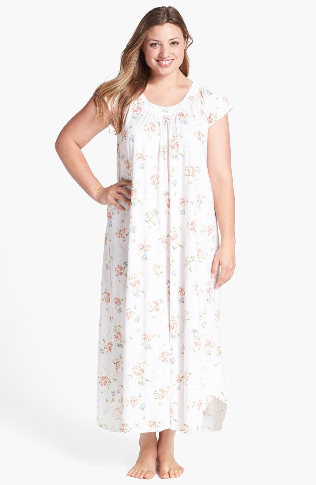 Alternate Image 1 Selected - Carole Hochman Designs 'Garden Delights' Nightgown (Plus Size)