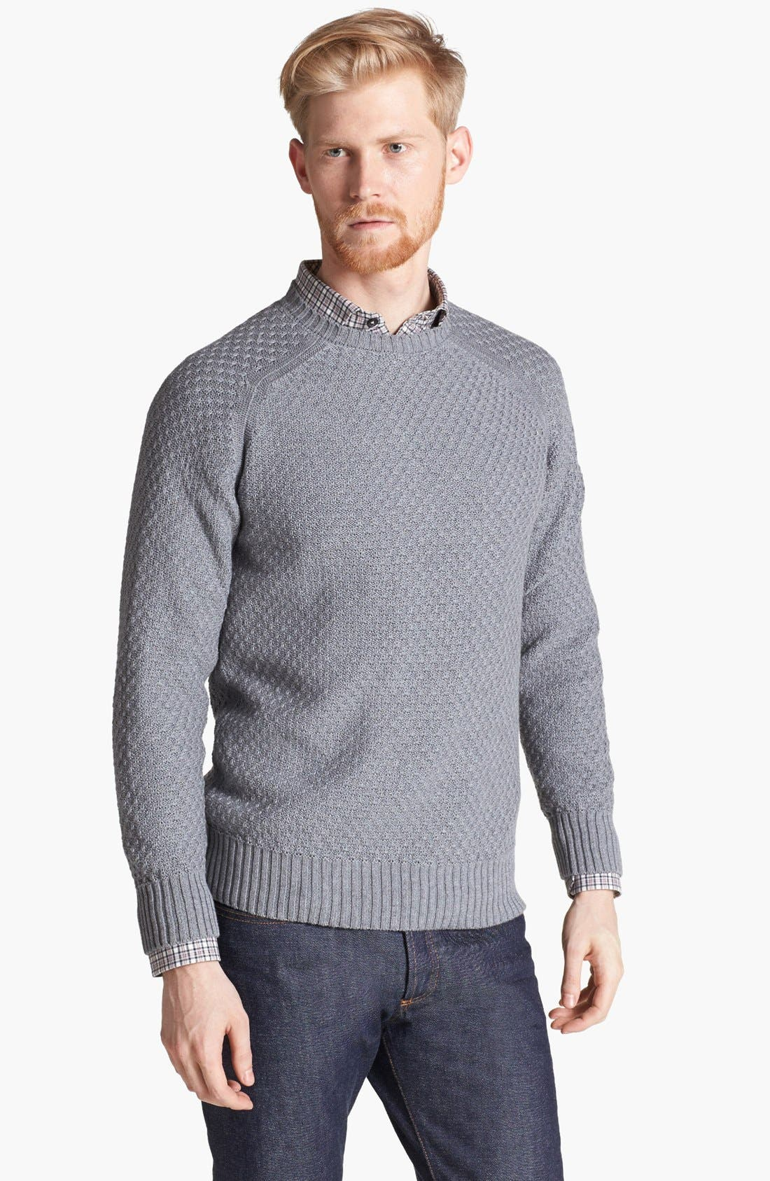 Main Image - Billy Reid Honeycomb Knit Crewneck Sweater