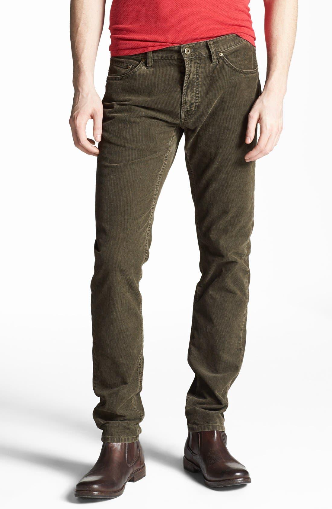 Alternate Image 1 Selected - Gant by Michael Bastian Slim Straight Leg Corduroy Pants