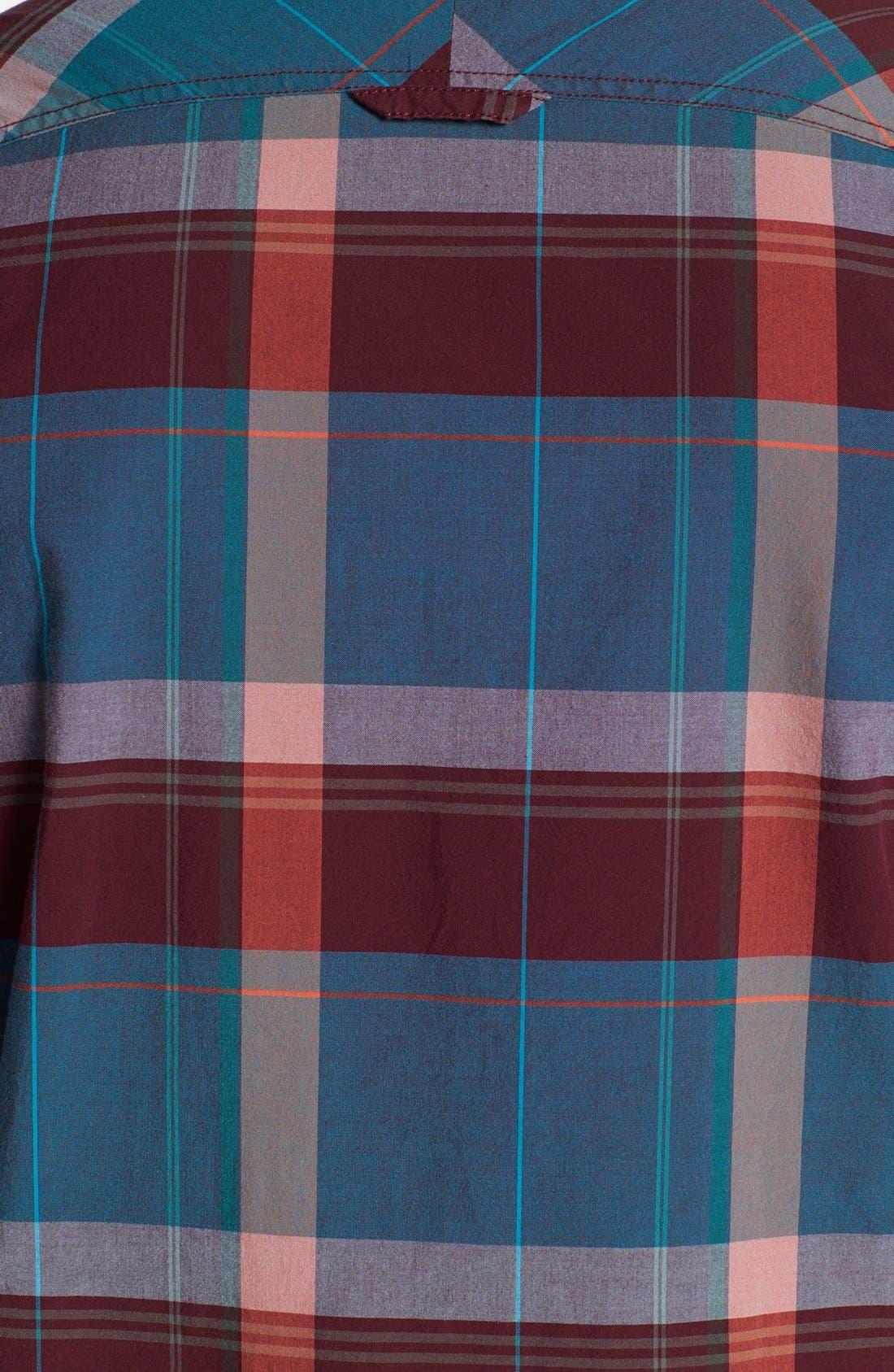 Alternate Image 3  - 1901 Trim Fit Plaid Poplin Shirt