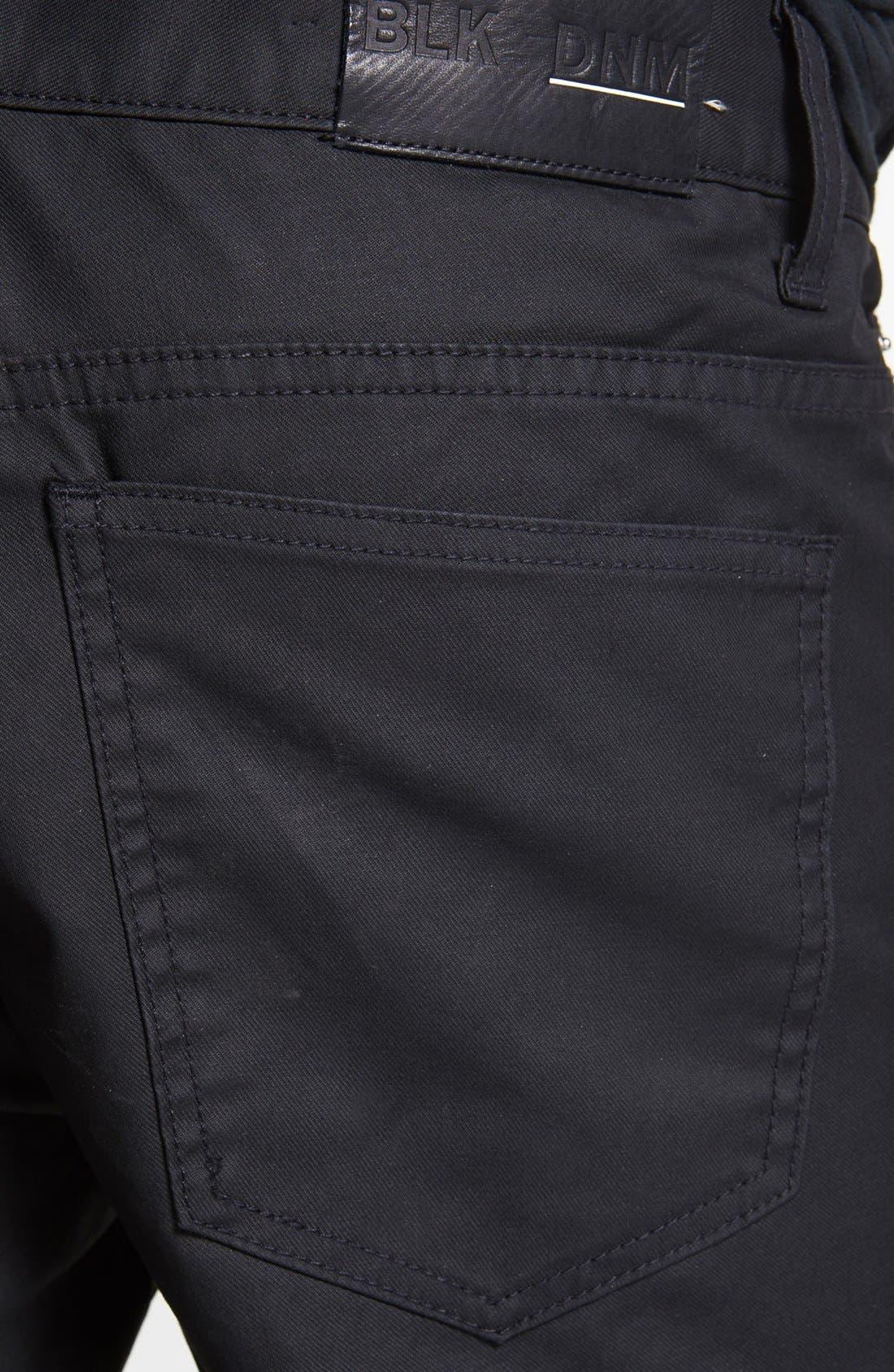 Alternate Image 4  - BLK DNM 'Jeans 5' Slim Straight Leg Jeans (Orchard Black)