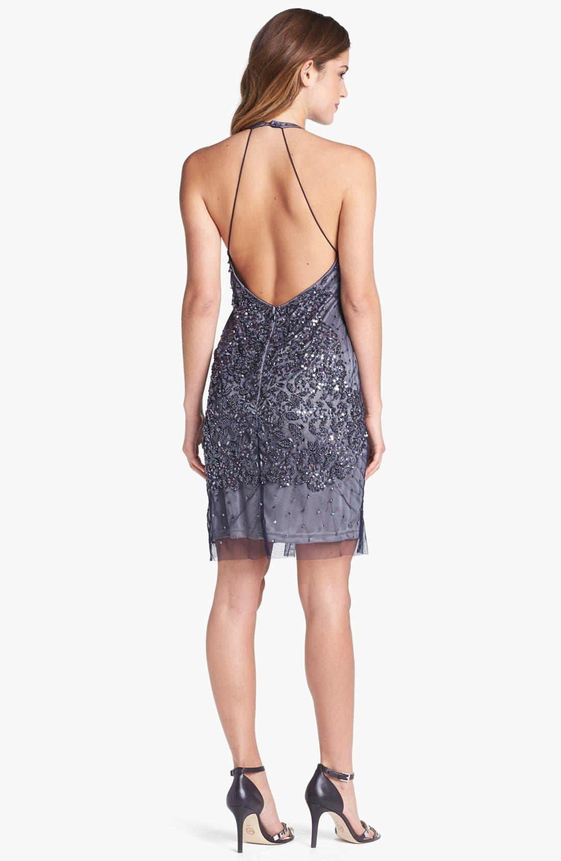 Alternate Image 2  - Adrianna Papell Embellished Mesh Dress