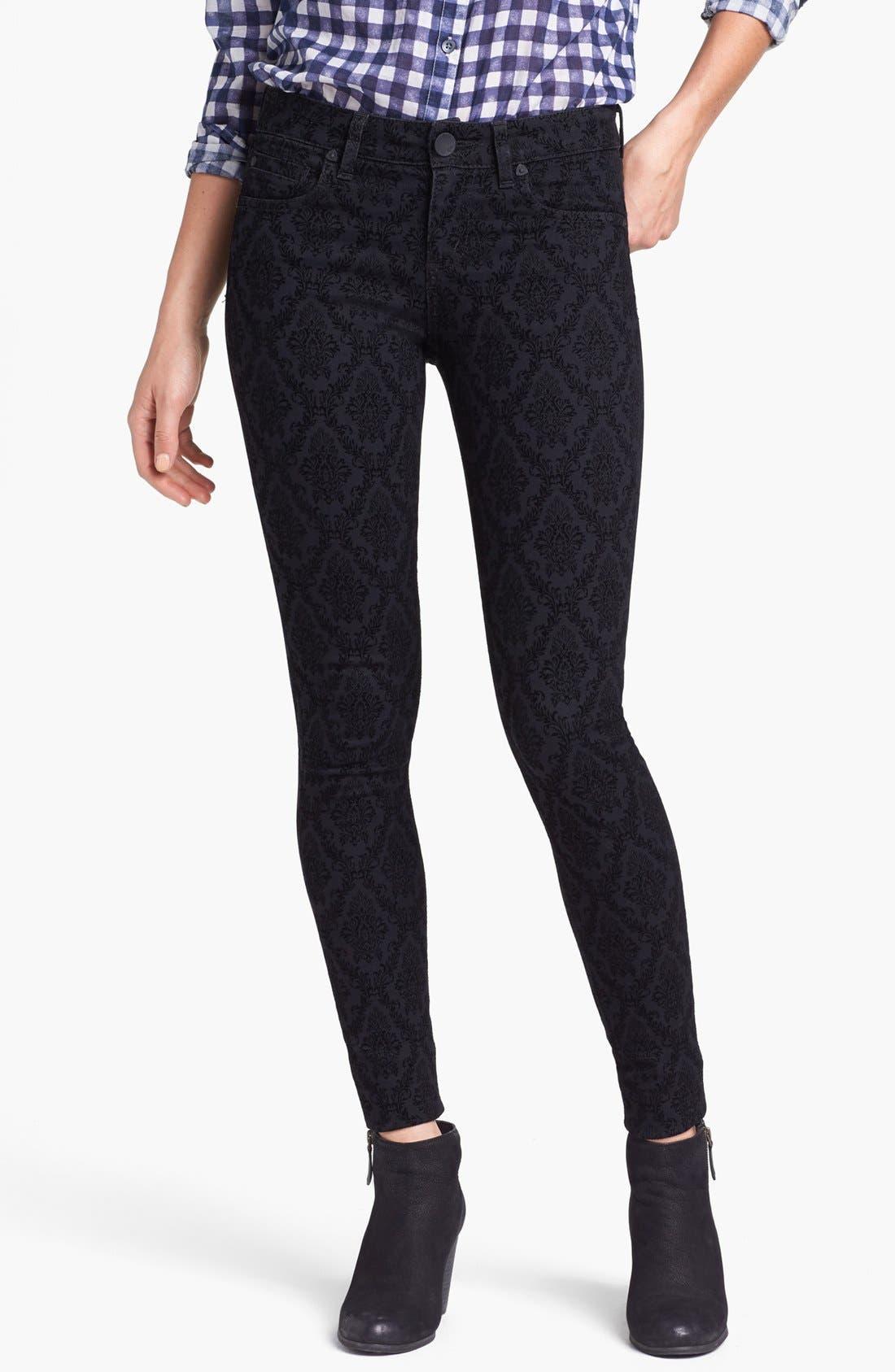 Alternate Image 1 Selected - KUT from the Kloth Print Skinny Jeans (Black Brocade Print)