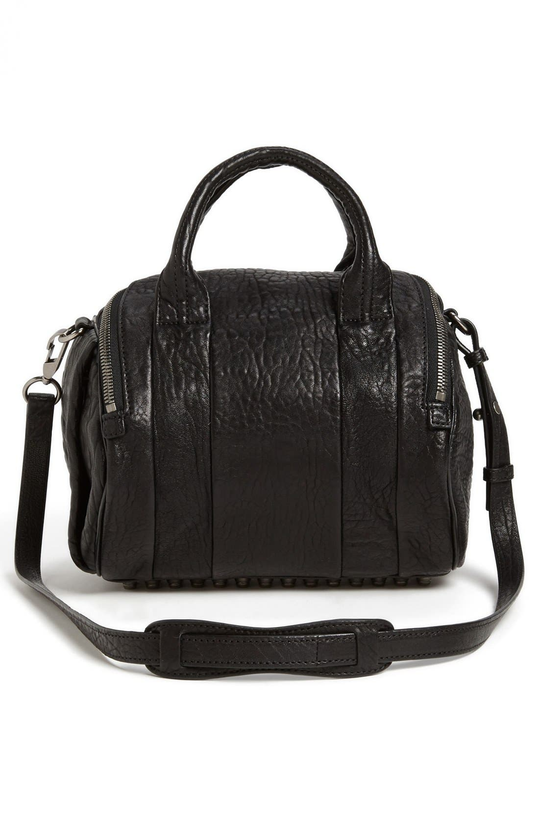 Alternate Image 4  - Alexander Wang 'Rockie - Black Nickel' Leather Crossbody Satchel
