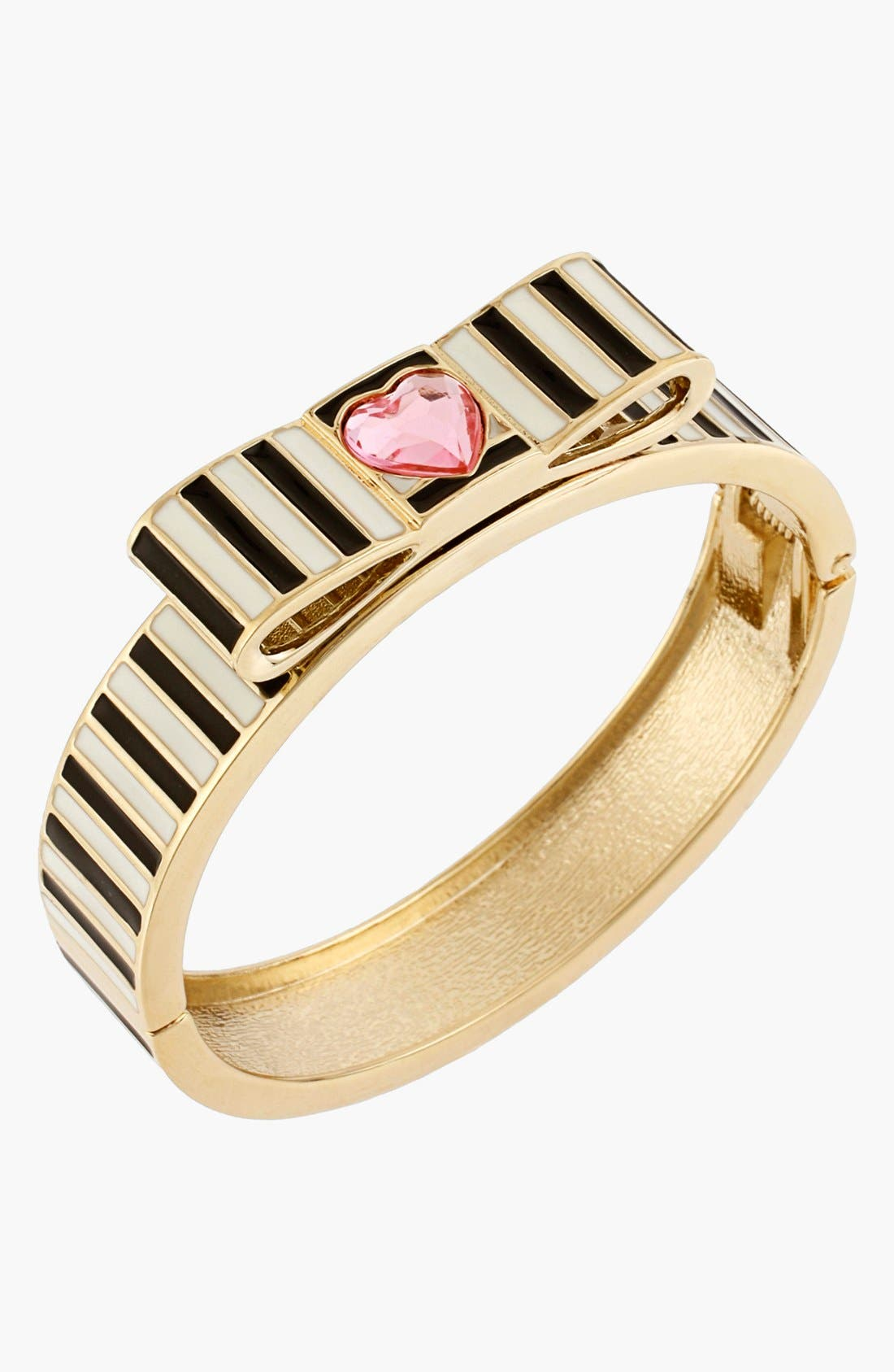 Alternate Image 2  - Betsey Johnson 'Paris' Stripe Hinged Bangle