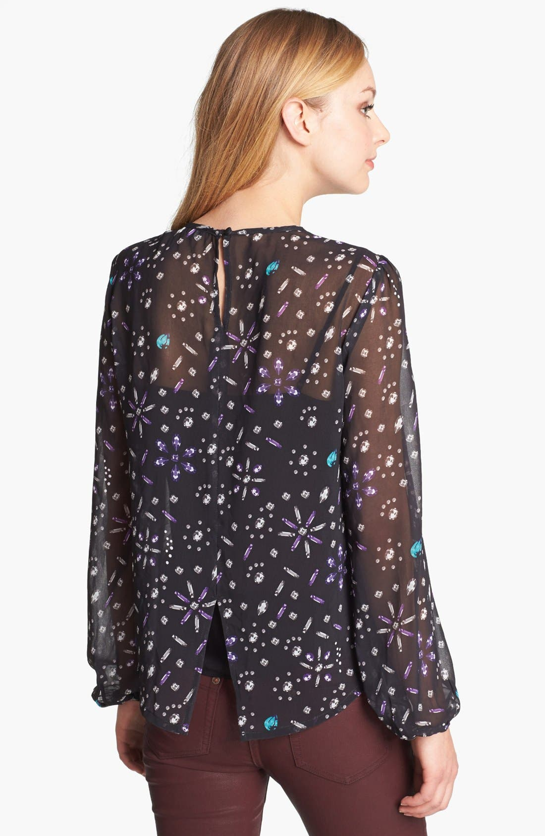 Alternate Image 2  - Vince Camuto Jewel Print Blouse