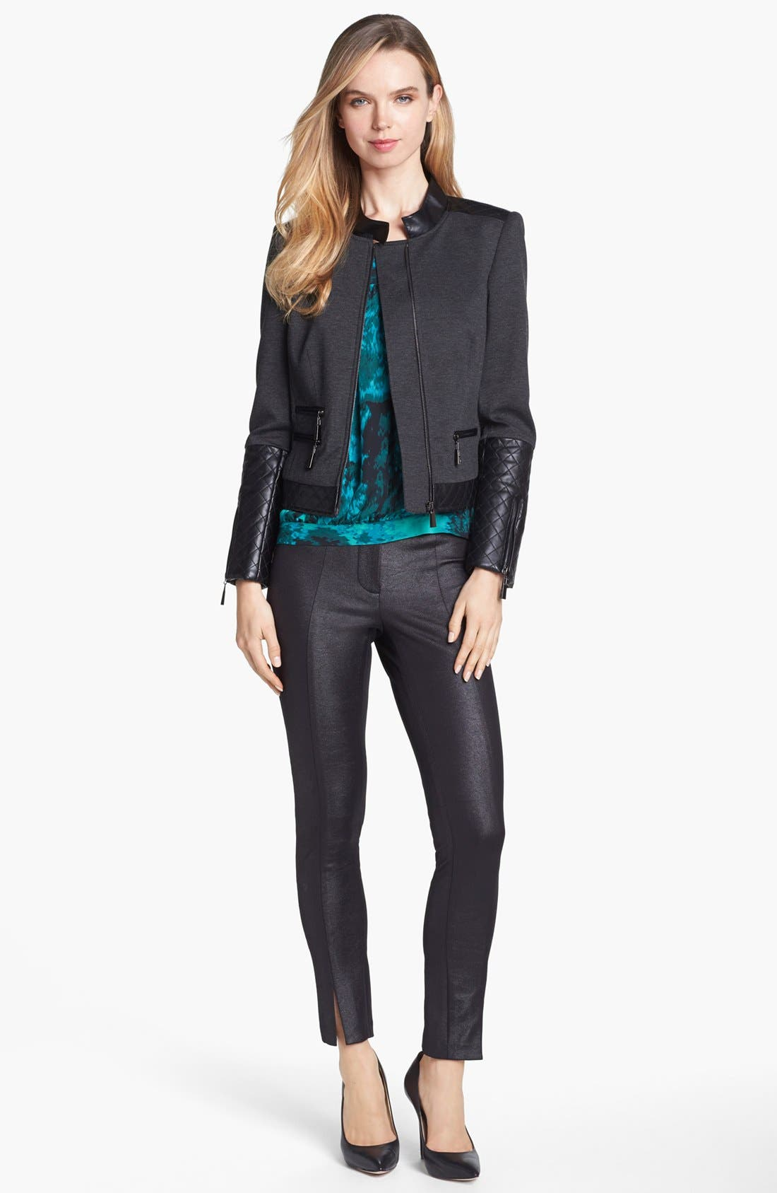 Alternate Image 1 Selected - Vince Camuto Faux Leather Trim Jacket