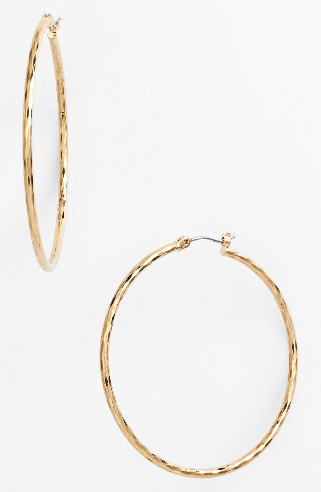 Main Image - Nordstrom Harlequin Facet Hoop Earrings