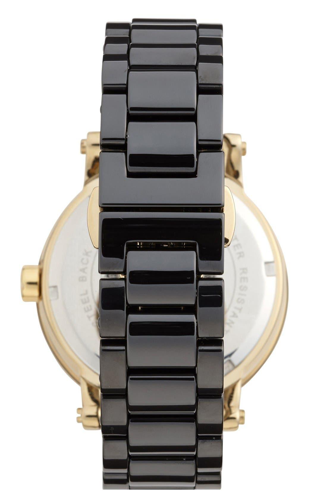 Alternate Image 2  - Vince Camuto Ceramic Bracelet Watch, 40mm