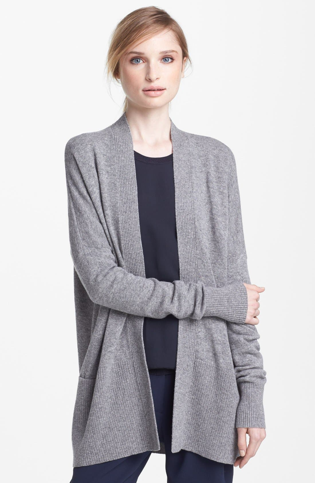 Main Image - Vince Ribbed Cashmere Cardigan