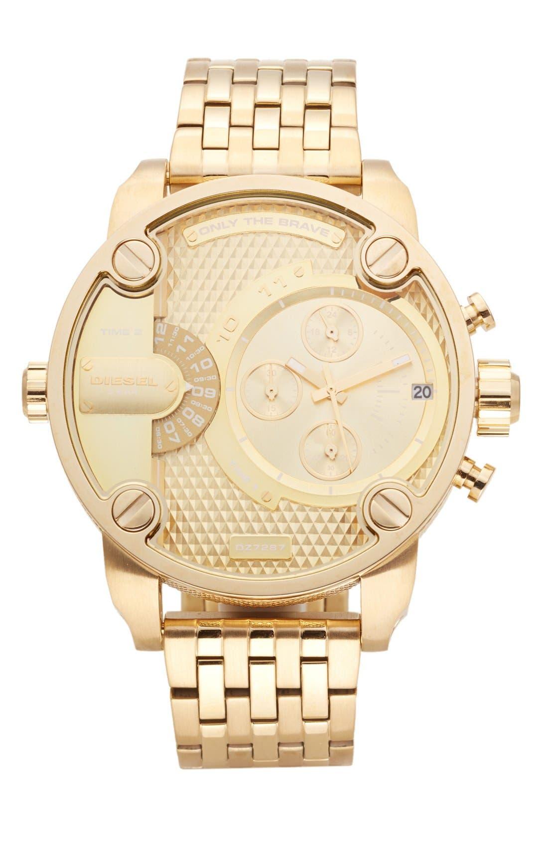 Alternate Image 1 Selected - DIESEL® 'Little Daddy' Chronograph Bracelet Watch, 51mm